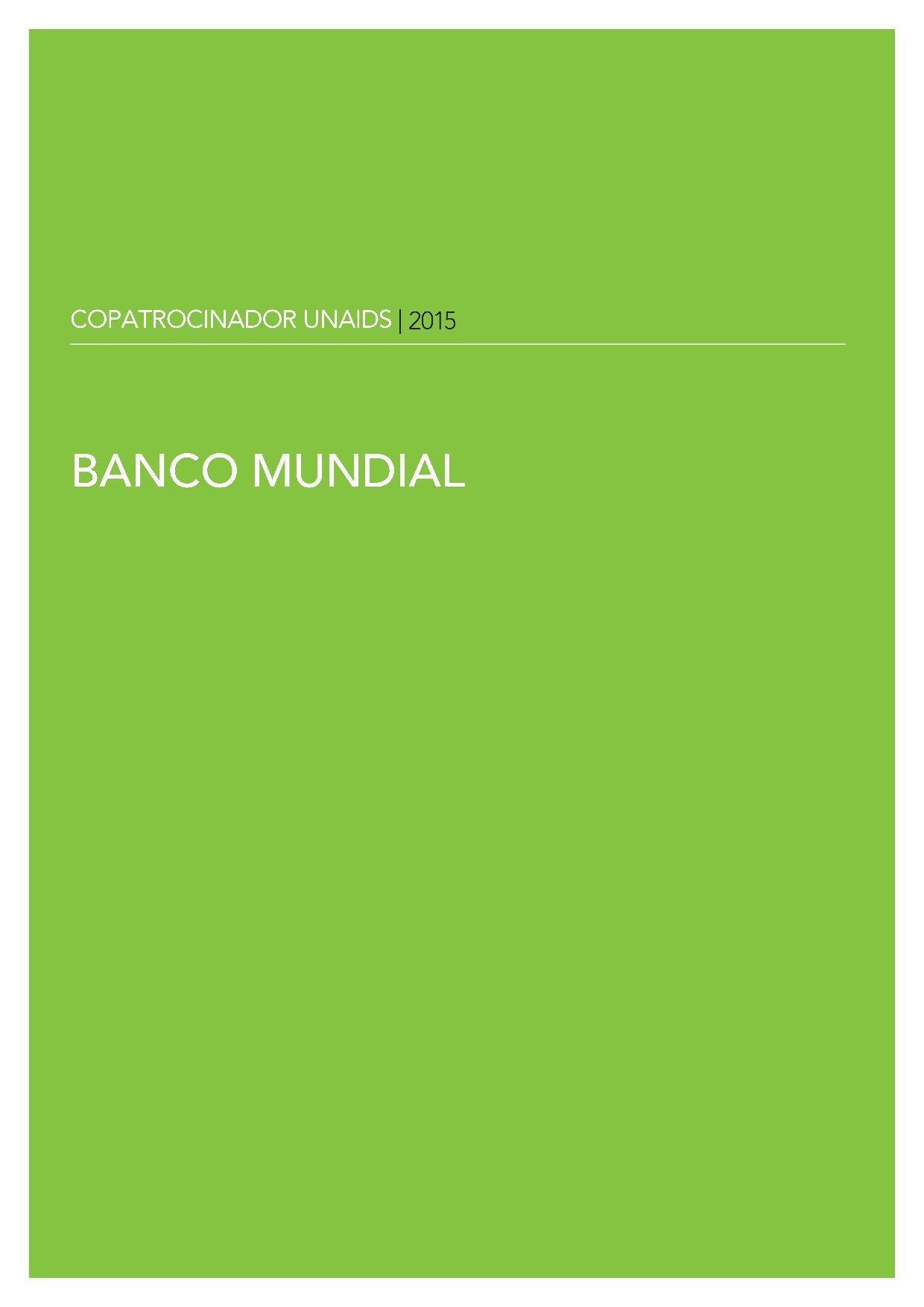 2015 UNAIDS COPATROCINADOR BANCO MUNDIAL